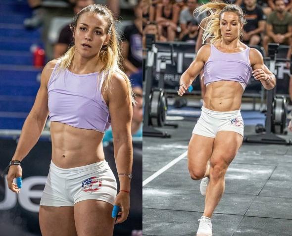 Atleta femminile di Crossfit in azione