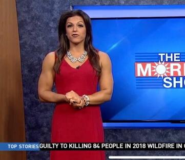 Jillian Fertig giornalista body builder presenta il della Fox Television
