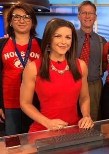 Jillian Fertig giornalista body builder presenta il Fox 4 Morning Show